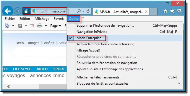 utiliser internet explorer 11 avec windows 10